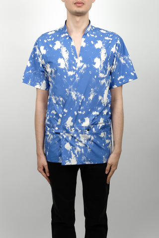 Raf Simons Big Fit Two Patches Shirt In White