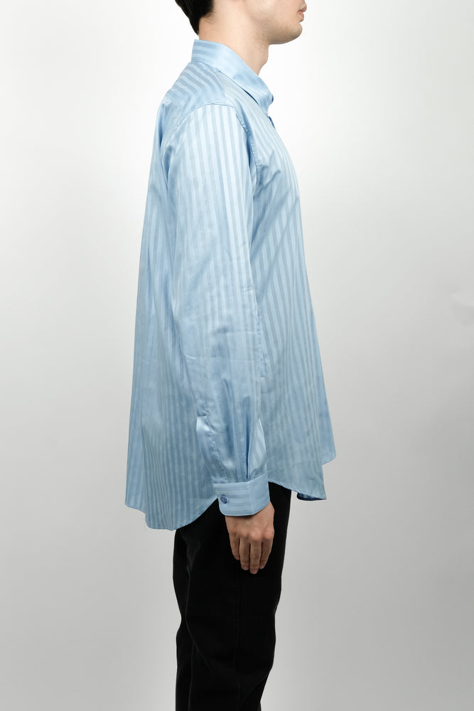 Martine Rose Wrap Shirt In Blue Stripe