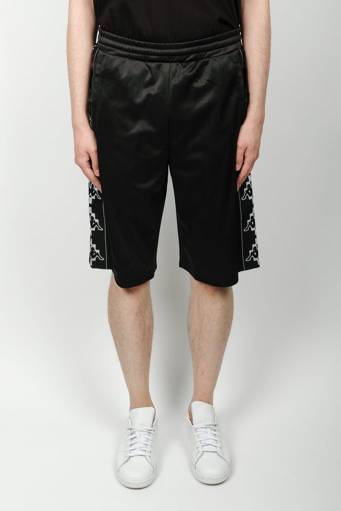 Marcelo Burlon Kappa Tape Shorts In Black