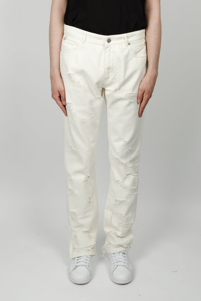 Alyx Carry Over 5 Pocket Denim In White - CNTRBND