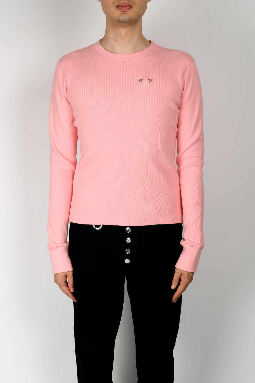 Linder Bosie L/S Piercing Detail Top In Pink