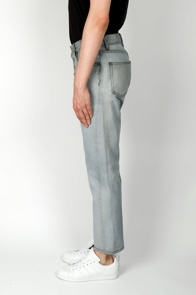 Linder Tube Exposed Shank Cropped Jean In Cloud