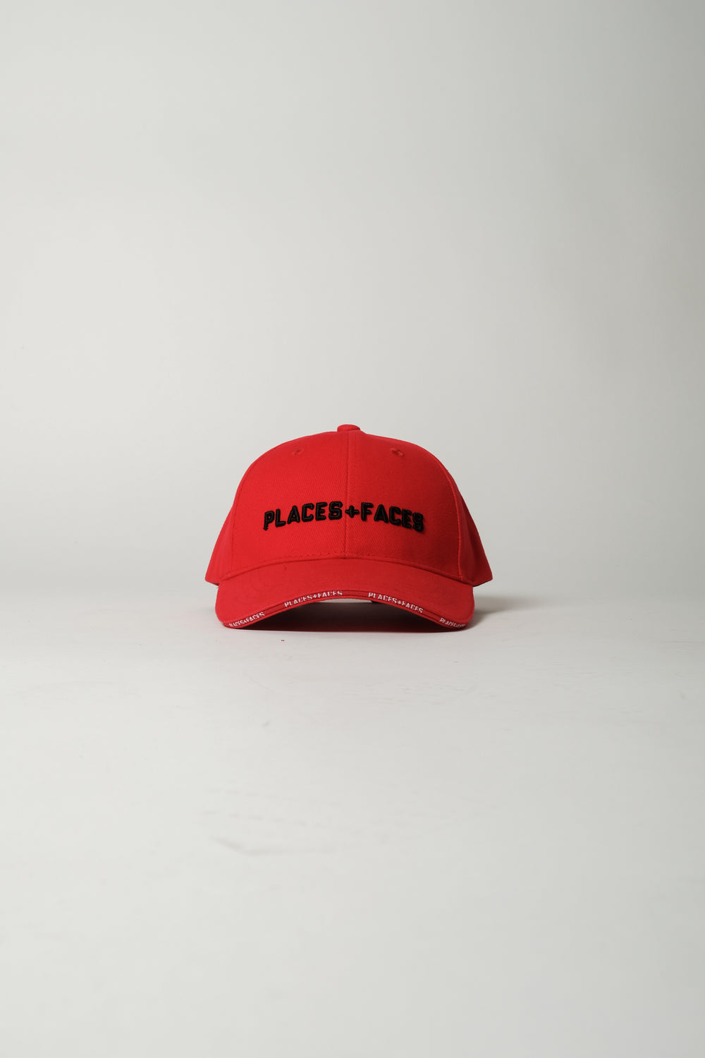 Places+Faces 3D Embroidery Logo Cap In Red