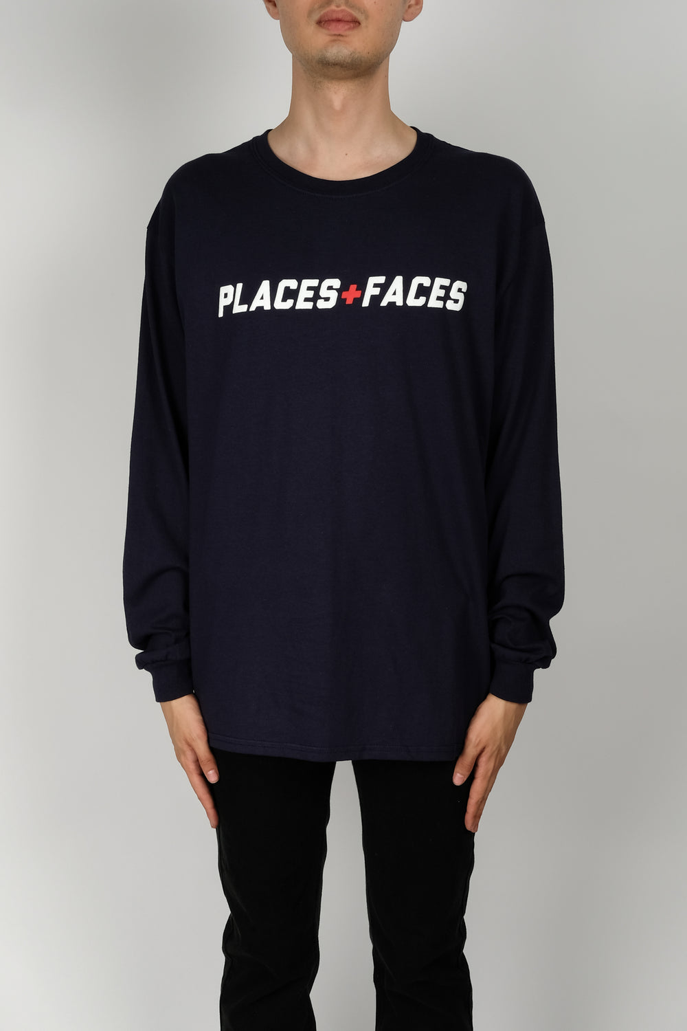 Places+Faces Canada L/S Tee In Navy