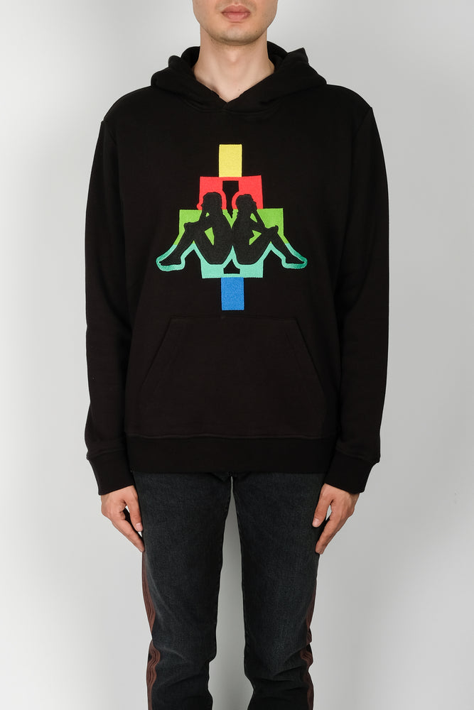 Marcelo Burlon Kappa Multicolor Hoodie In Black - CNTRBND