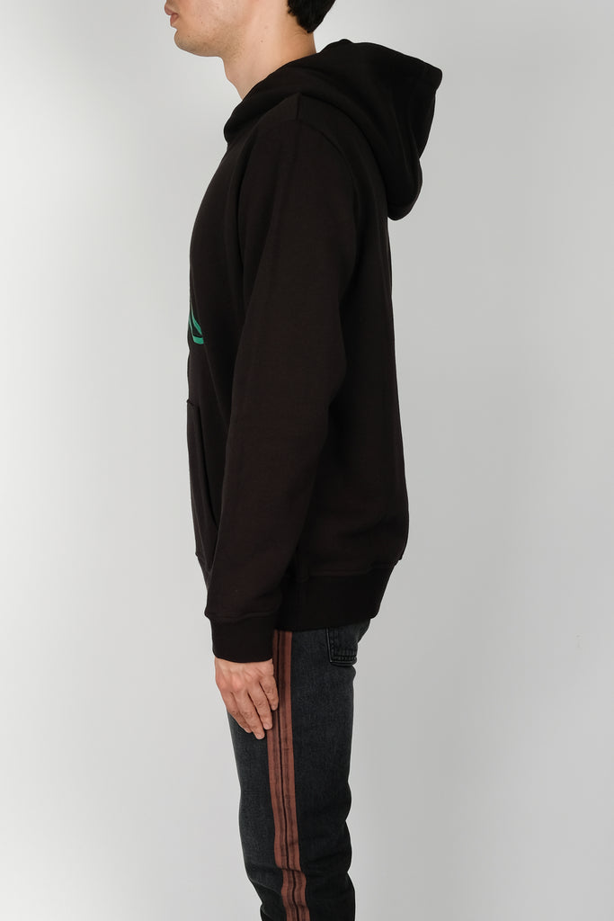Marcelo Burlon Kappa Multicolor Hoodie In Black