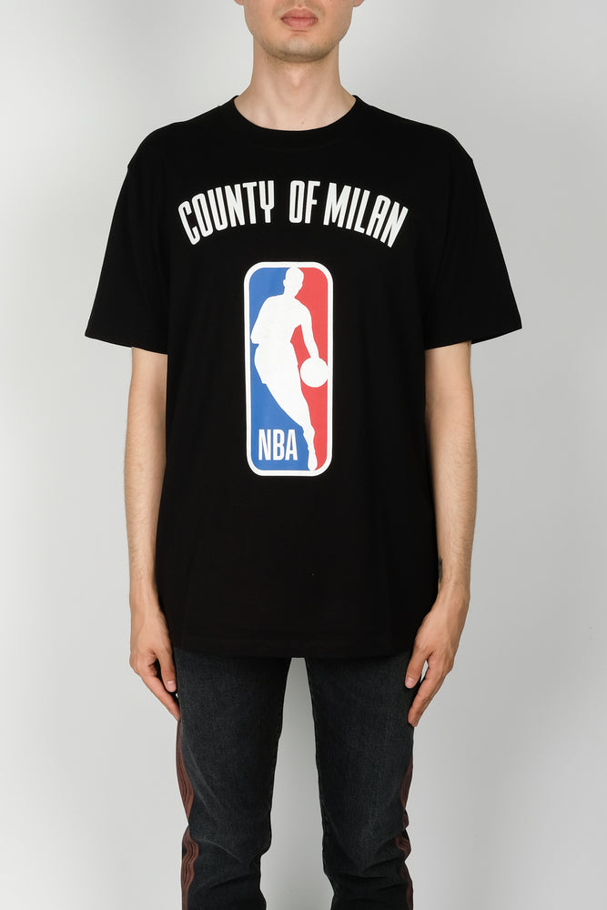 Marcelo Burlon NBA T-Shirt In Black - CNTRBND