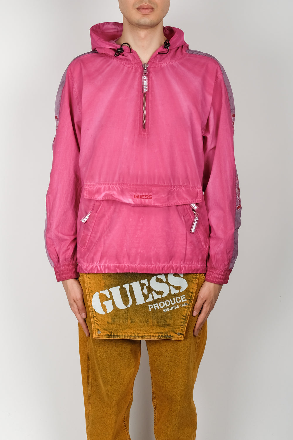 GUESS USA Piece Dye Anorak In Purple