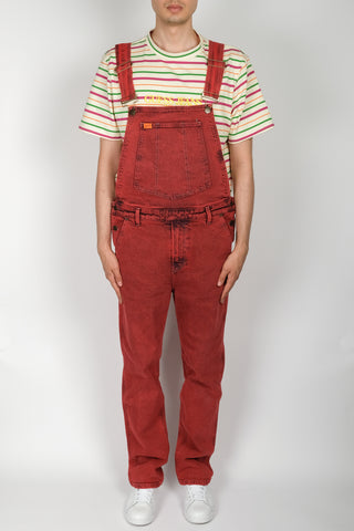 GUESS Indigo Color Acid Wash Overall In Pink
