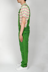 GUESS Indigo Color Acid Wash Overall In Green