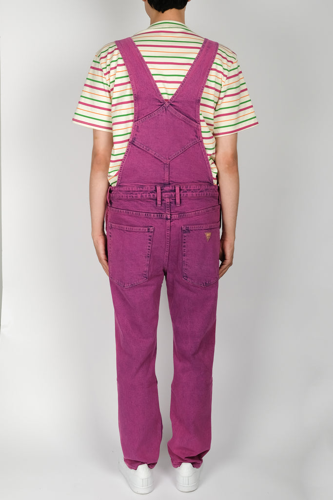 GUESS Indigo Color Acid Wash Overall In Purple