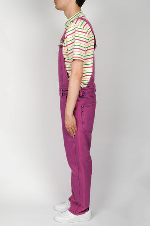 GUESS Indigo Color Acid Wash Overall In Purple - CNTRBND