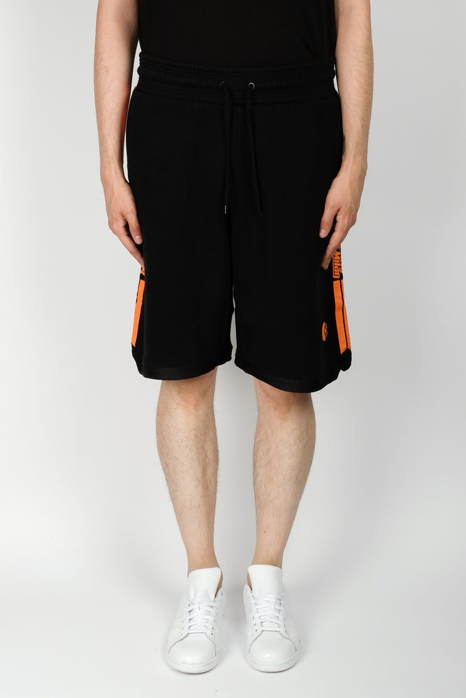 Marcelo Burlon Stripes County Sweatshorts In Black - CNTRBND