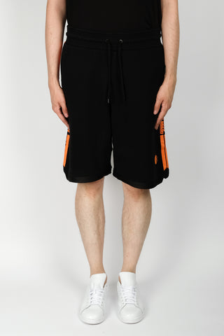 Marcelo Burlon Stripes County Sweatshorts In Black