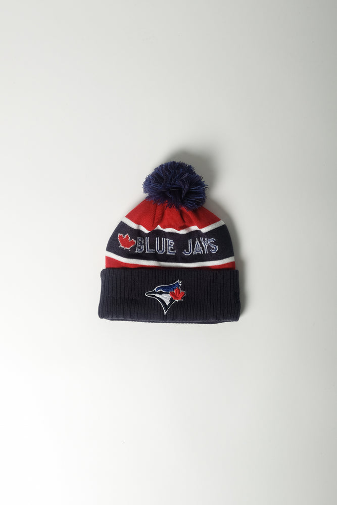 Marcelo Burlon X New Era TO Blue Jays Pom Pom Beanie In Dk Blue - CNTRBND