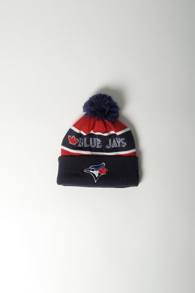 Marcelo Burlon X New Era TO Blue Jays Pom Pom Beanie In Dk Blue