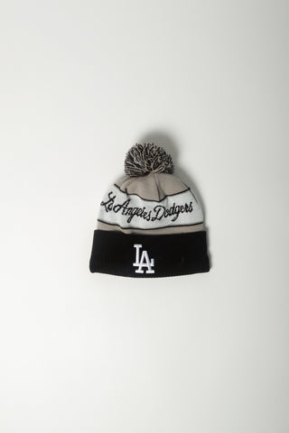 Marcelo Burlon X New Era Dodgers Pom Pom Beanie In Lt Grey