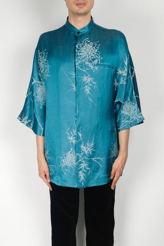 Haider Ackermann Biais Detail Shirt In Cleome Blue