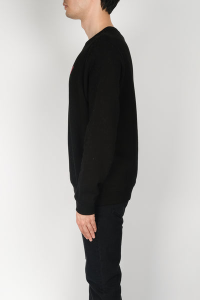 BALLY Rainbow Logo Crewneck In Black