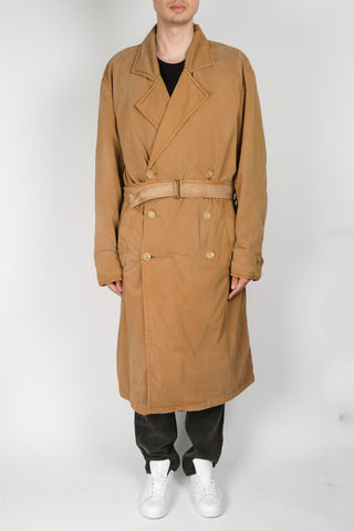 Ann Demeulemeester Larry Trench Coat In Terracotta