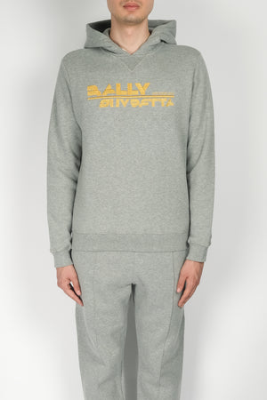 BALLY Embroidery Logo Hoodie In Grey