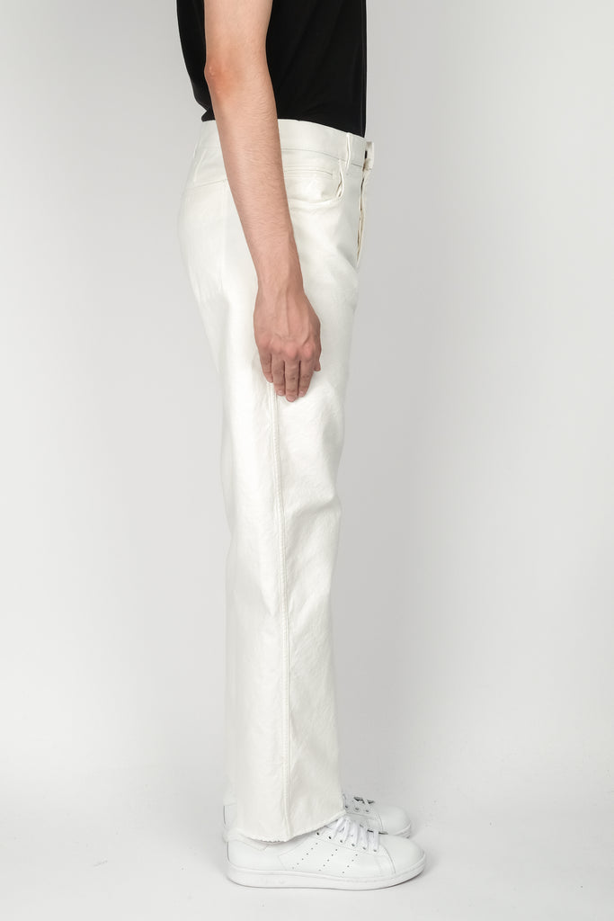 Haider Ackermann Skinny Trousers In Garment Dye Crystall
