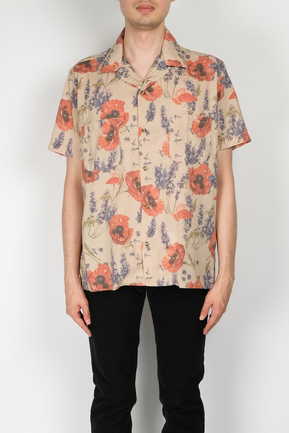 Resort Corps Opiate Bowling Shirt In Beige