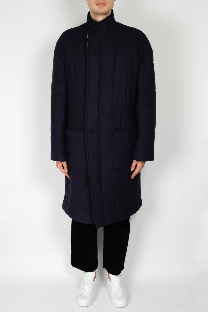 Haider Ackermann Fitzgerald Quilted Coat In Blue