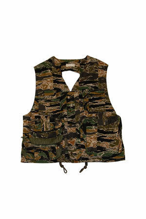 Load image into Gallery viewer, Dries Van Noten Globe Camo Gilet In Black - CNTRBND