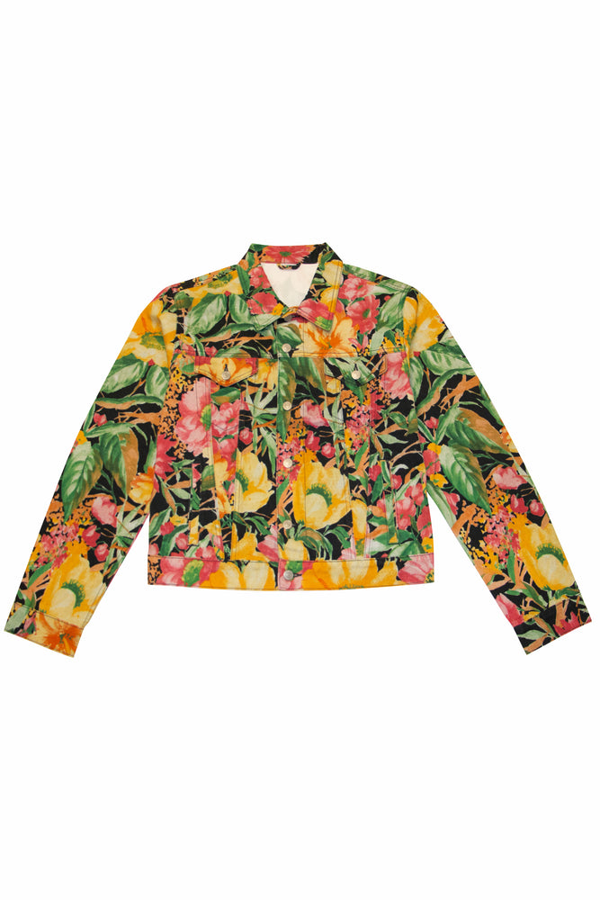 Dries Van Noten Voste Floral Denim Jacket In Multi