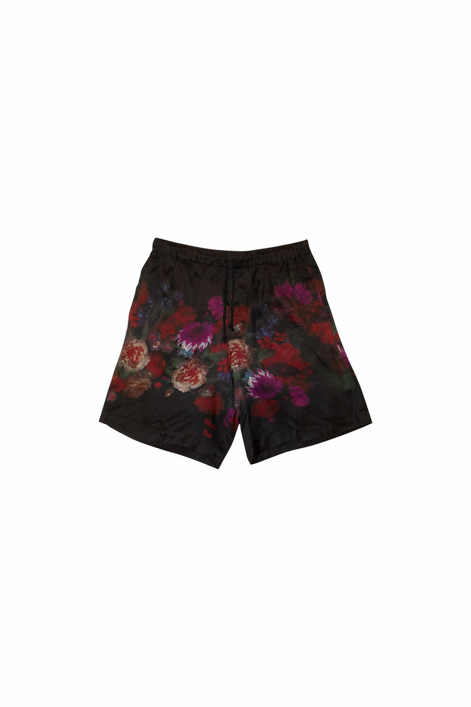 Dries Van Noten Piper Floral Shorts In Black