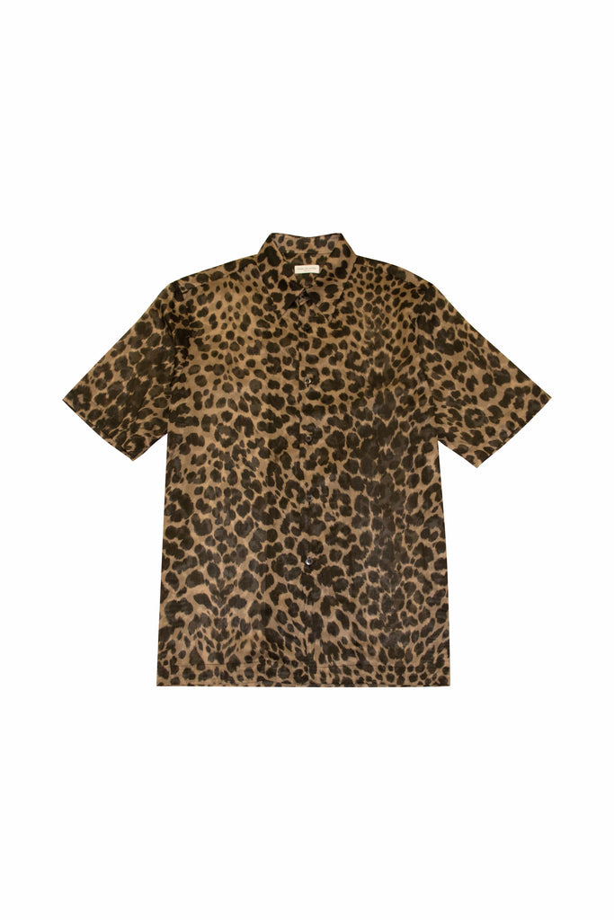 Dries Van Noten Clasen Leopard Shirt In Brown