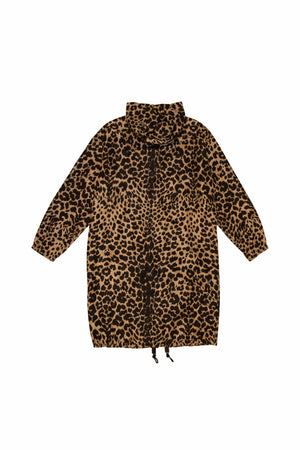 Dries Van Noten Vence Long Leopard Jacket In Sand