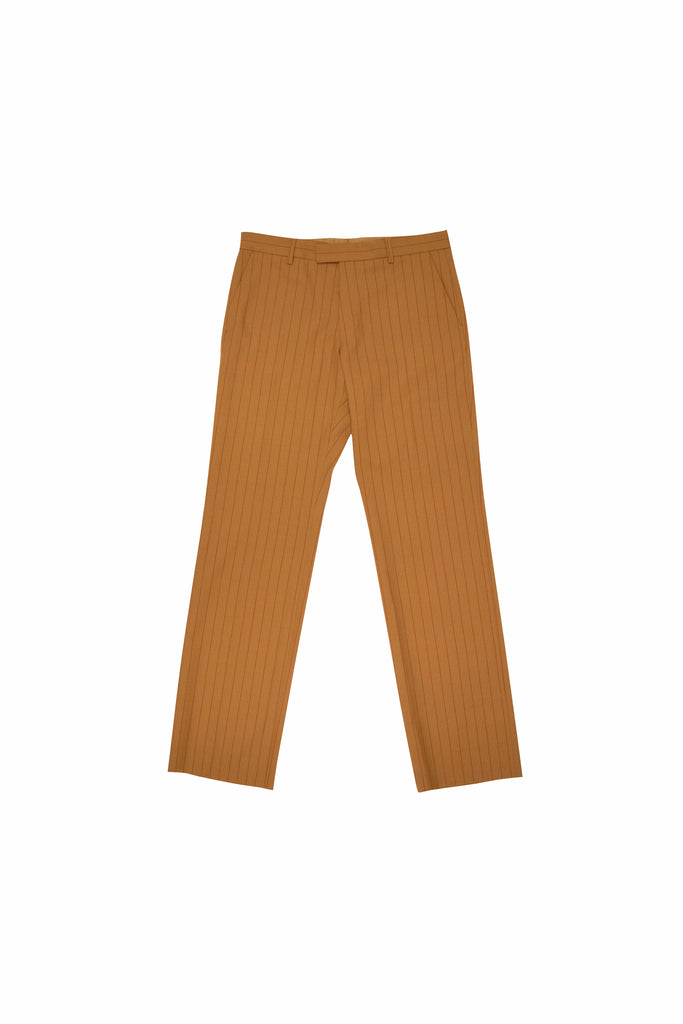 Dries Van Noten Prowse Pin Stripe Pants In Camel