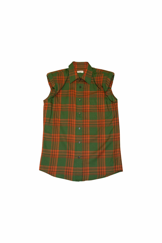 Dries Van Noten Casul Check Shirt In Green