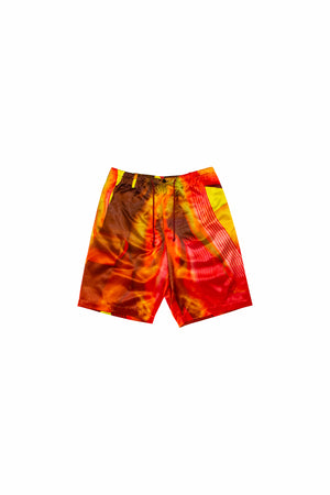 Load image into Gallery viewer, Dries Van Noten Pieny Print Short Pants In Red