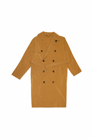 Dries Van Noten Rennie Long Trench Coat In Camel