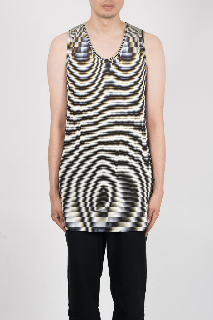Robert Geller The Striped Tank In Black/White