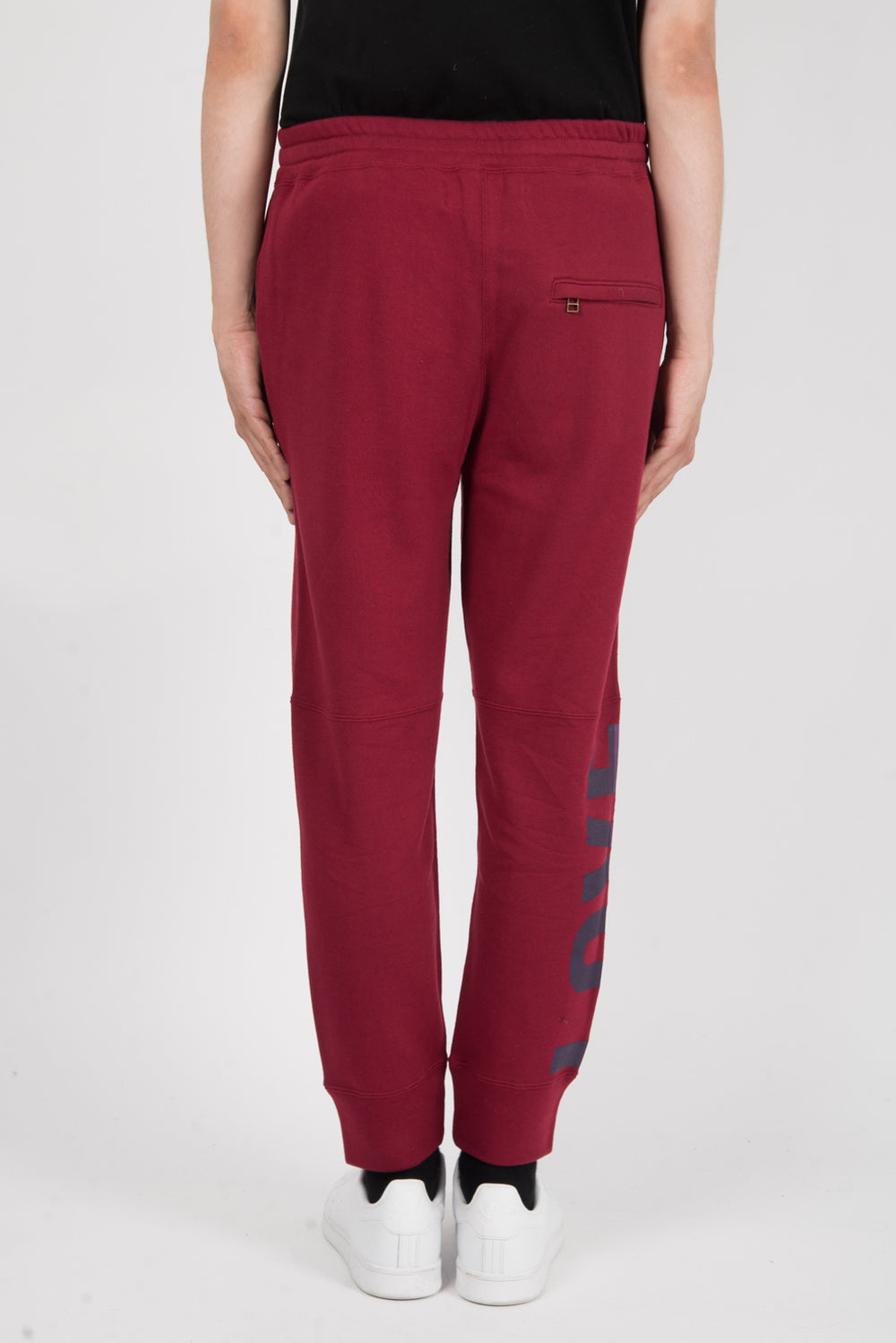 Robert Geller The Love And War Pant In Dull Red