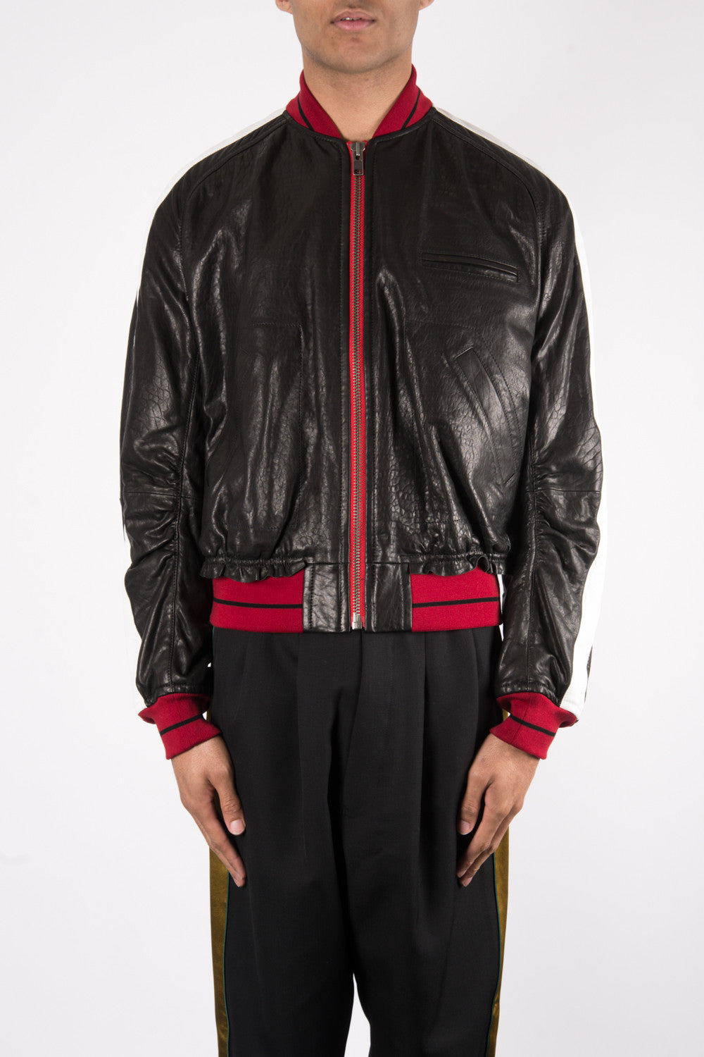 Haider Ackermann Kills Calf Leather Jacket In Black