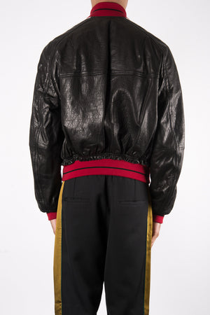 Load image into Gallery viewer, Haider Ackermann Kills Calf Leather Jacket In Black