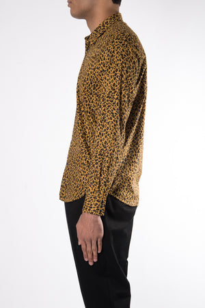 Herman Market Cotton Leopard Shirt In Gold - CNTRBND