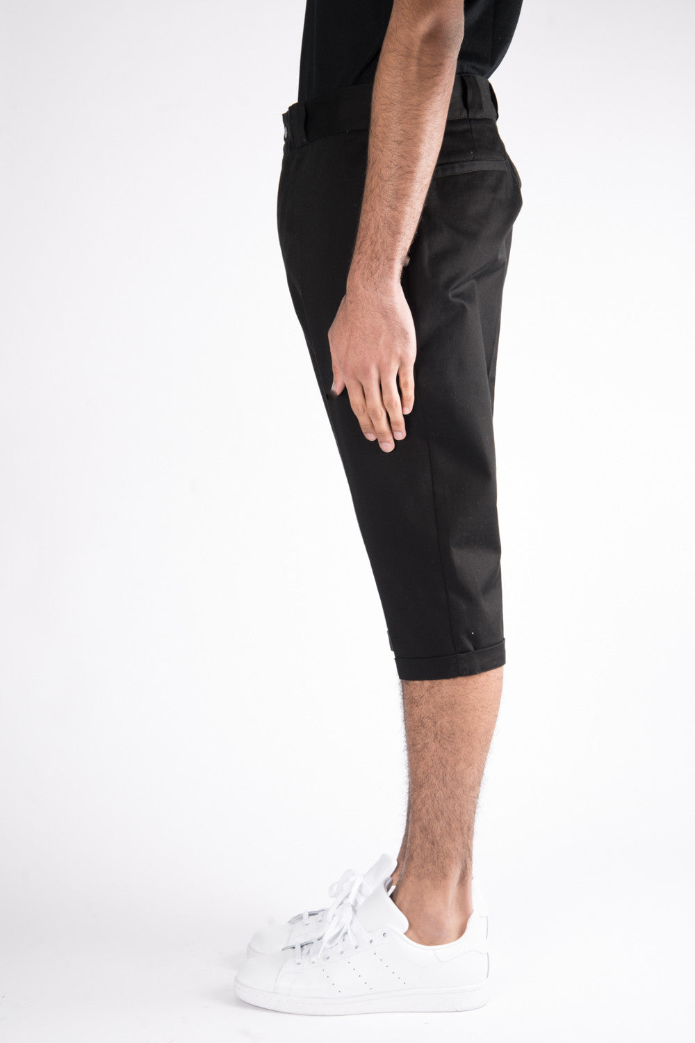 Herman Market Cropped Cotton Work Pant In Black