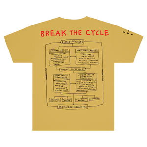 "INFINITE ARCHIVES X Tom Sachs ""Break The Cycle"" Tee In Mustard"