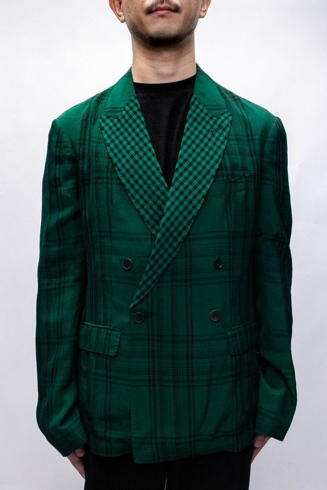 Haider Ackermann Montauk Slouchy Jacket In Green