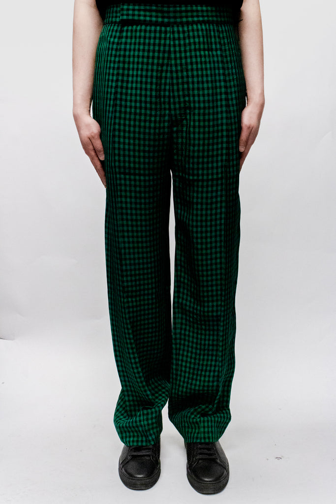 Haider Ackermann Paloma Elastic Waistband Trousers In Green