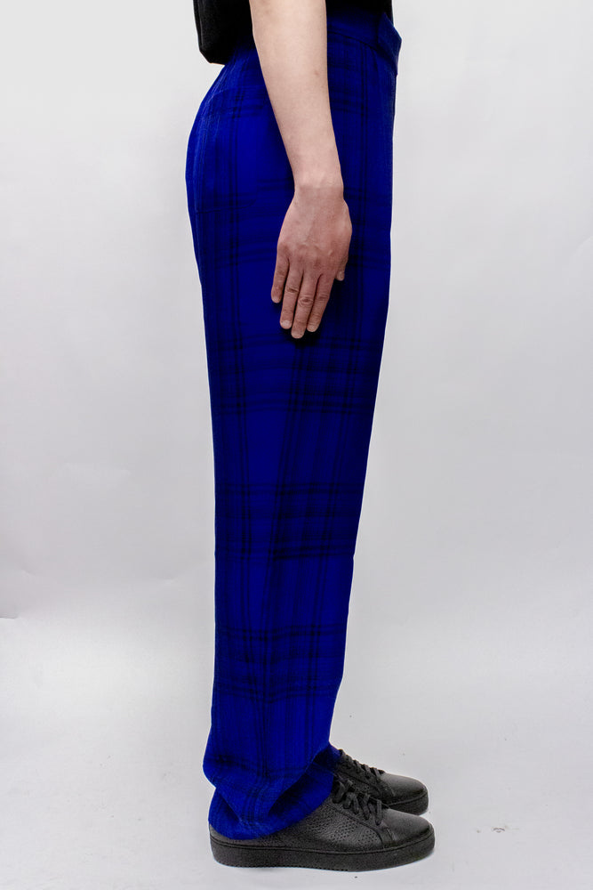 Load image into Gallery viewer, Haider Ackermann Montauk Elastic Waistband Trousers In Blue - CNTRBND