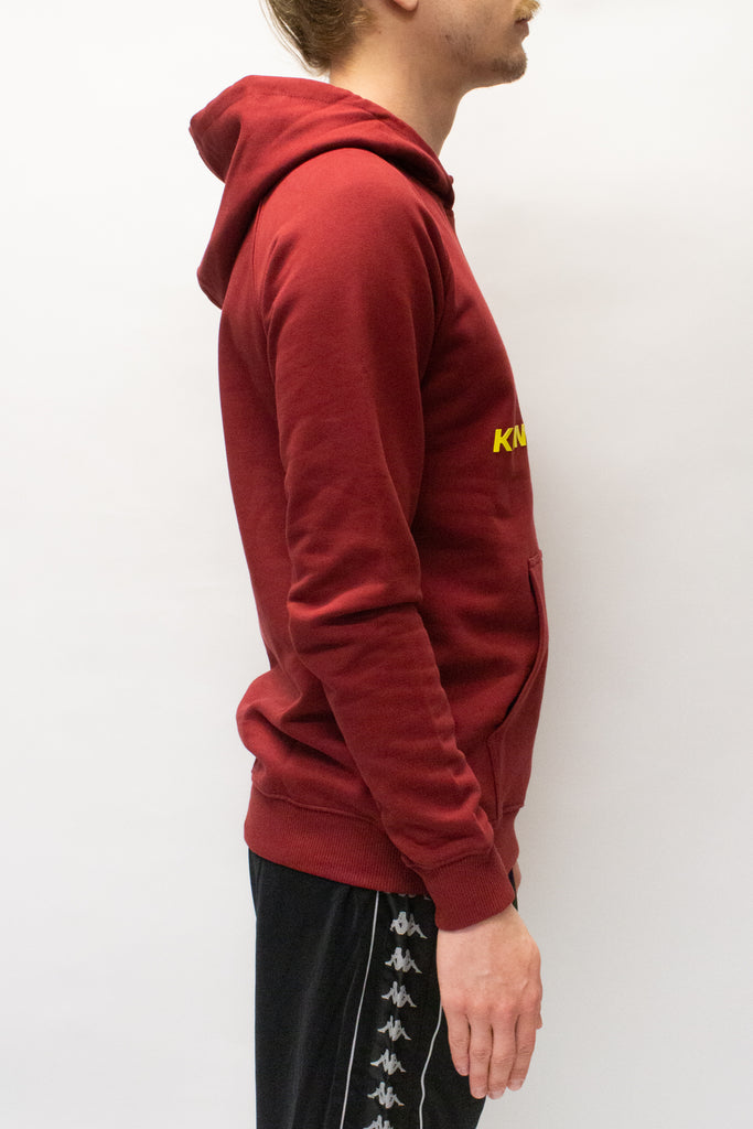 Kappa Kontroll Reglan Hoodie In Red/Yellow