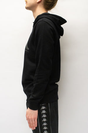 Kappa Kontroll Set In Sleeve Hoodie In Black/Grey - CNTRBND