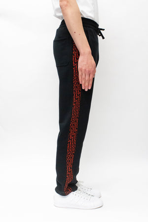 Missoni Logo Side Tape Track Pants In Black